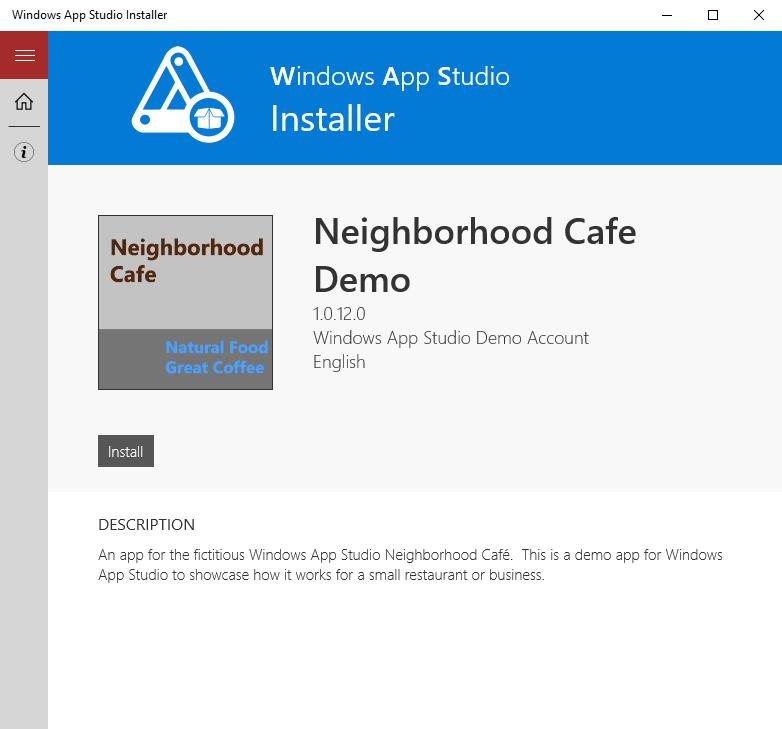 Windows App Studio Update: Installer companion app