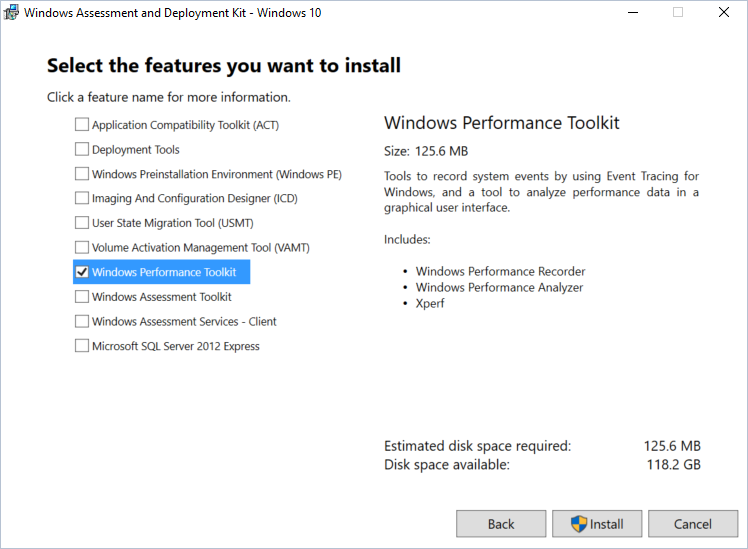 Analyzing website performance with the Windows Performance Toolkit