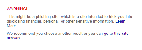 Warning! Bing now offers enhanced malware warnings!
