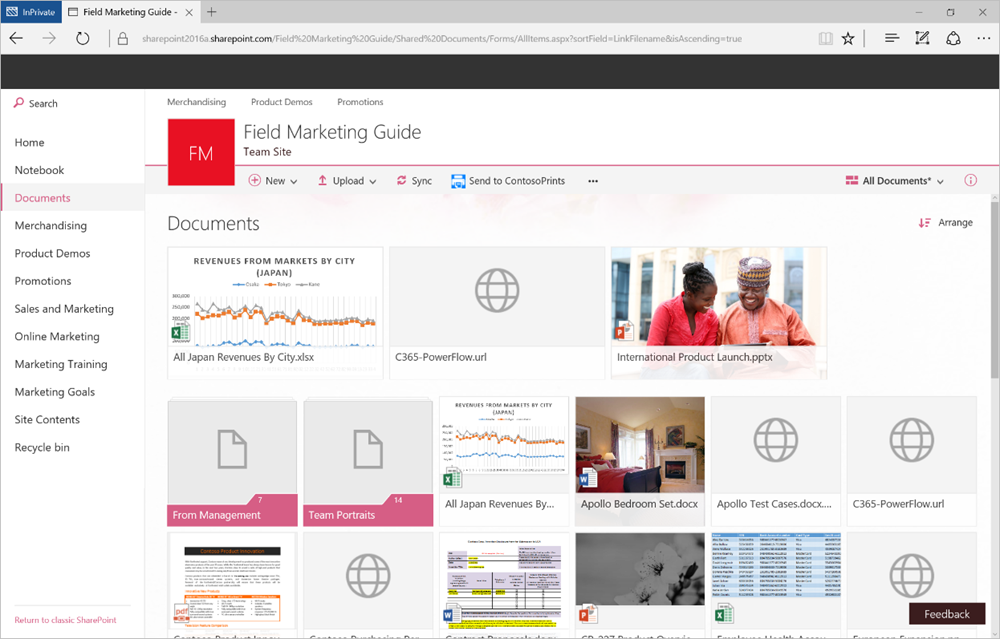 Modern document libraries in SharePoint