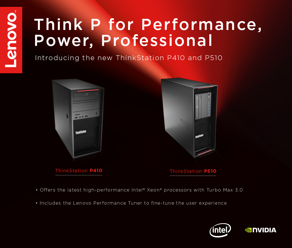 New Lenovo Workstations Bring a Higher Level of Performance to the Masses