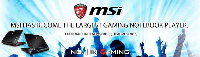 Undoubtedly, MSI dominates the World of Gaming Notebook and far ahead from its competitors