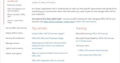 One-stop shop for enterprise/IT pro content about Office 365