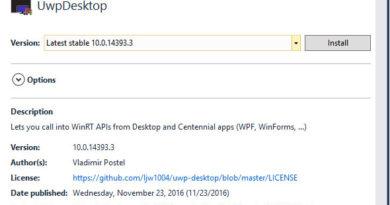 """Announcing """"UWPDesktop"""" NuGet Package Version 14393"""