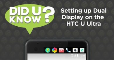 Did U Know - Setting up Dual Display on the HTC U Ultra