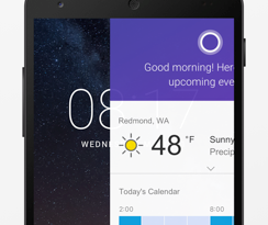 Cortana at your fingertips, now on Android lock screen