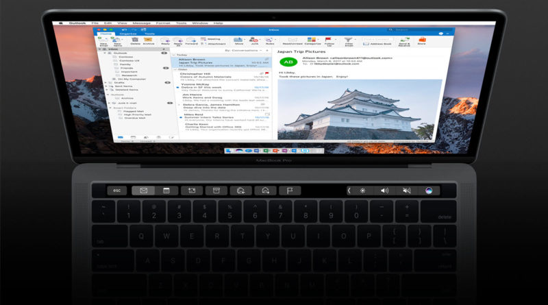 Outlook 2016 for Mac adds Touch Bar support and now comes with your favorite apps