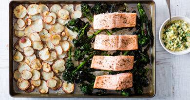 Healthy Recipe: Sheet-Pan Salmon with Spring Veggies