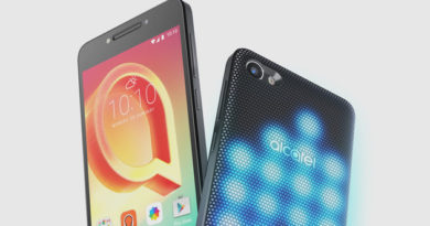 Alcatel A5 LED: Smartphone with disc lighting on the back