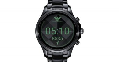 A smartwatch signed by Emporio Armani for September