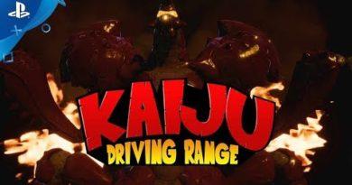 100ft Robot Golf - Kaiju Driving Range Announce Trailer | PS VR