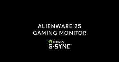 """Alienware 25"""" Gaming Monitor - Nvidia G-Sync"""