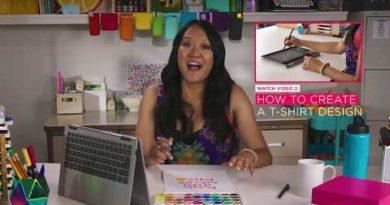 Create Inspirational Art With Amy Tangerine & Lenovo Yoga 720