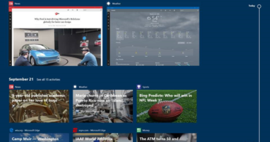 Application Engagement in Windows Timeline with User Activities