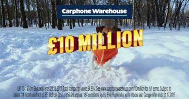 Carphone Warehouse £10 Million Giveaway – Google Pixel 2 – TV Ad