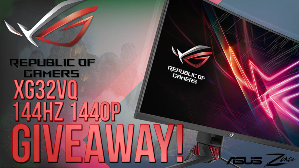 COMPETITION: Win an ASUS XG32VQ 32 Inch LED 144hz 1440p gaming