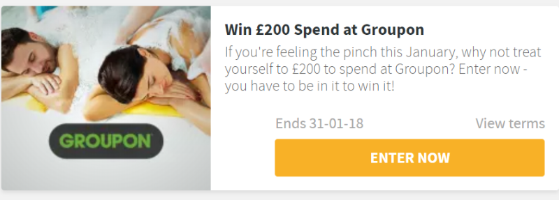 COMPETITION: Win £200 to spend at Groupon