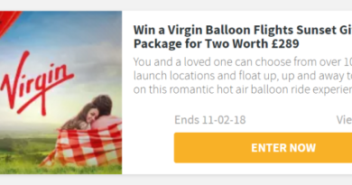 COMPETITION: Win a Virgin Balloon Flights Sunset Gift Package for Two Worth £289