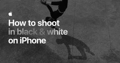 How to shoot in black & white on iPhone — Apple