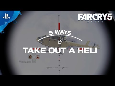 Far Cry 5 - 5 Ways to Take Out a Heli in Far Cry 5 | PS4