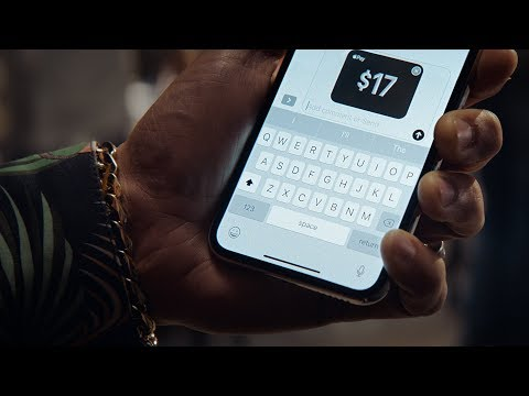 iPhone X — Pay with a message — Apple