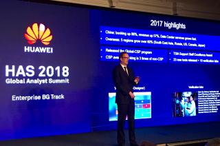 Huawei Enterprise Service presents achievements at the Huawei Analyst Summit 2018