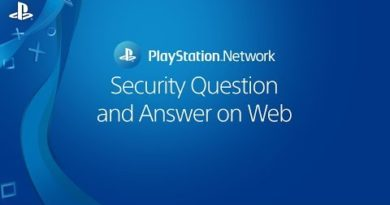 Choosing a security question and answer on Web   PSN