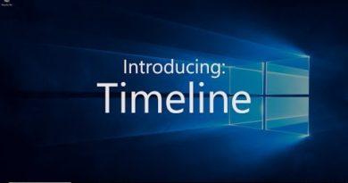 Windows 10 April 2018 Update - Timeline