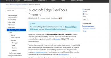 Introducing the Microsoft Edge DevTools Protocol