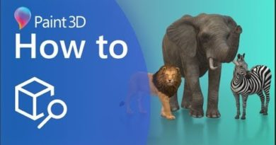 A Guide to Using the 3D Library within Paint 3D