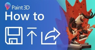 A Guide to Saving and Sharing in Paint 3D