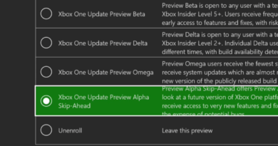 "Xbox One Update Preview: Try Out Even Earlier Builds with the New ""Alpha – Skip Ahead"" Ring, Coming Soon"