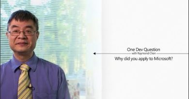 One Dev Question with Raymond Chen - Why did you apply to Microsoft?