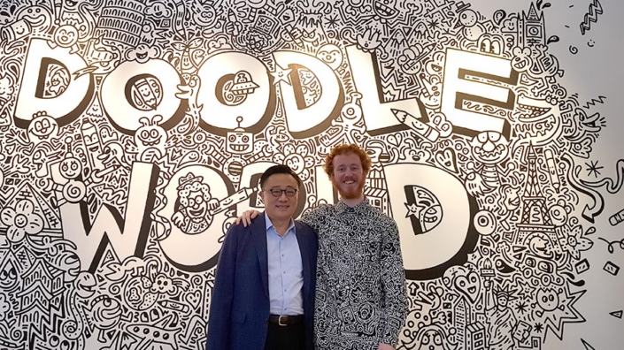 Mr. Doodle Unlocks the Creativity of the Galaxy Note With S Pen-Inspired Doodle Exhibition