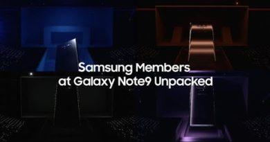 Samsung Members at Galaxy Note9 Unpacked