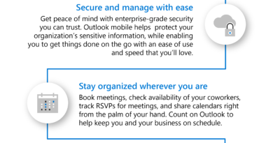 Your favorite email app, Outlook mobile, adds new enterprise information protection and mobile management capabilities