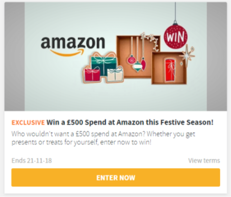 Win £500 to spend at Amazon