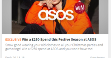 Win £250 to spend at ASOS