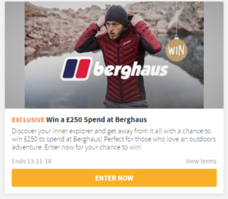 Win £250 to spend at Berghaus