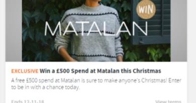 Win a £500 Spend at Matalan