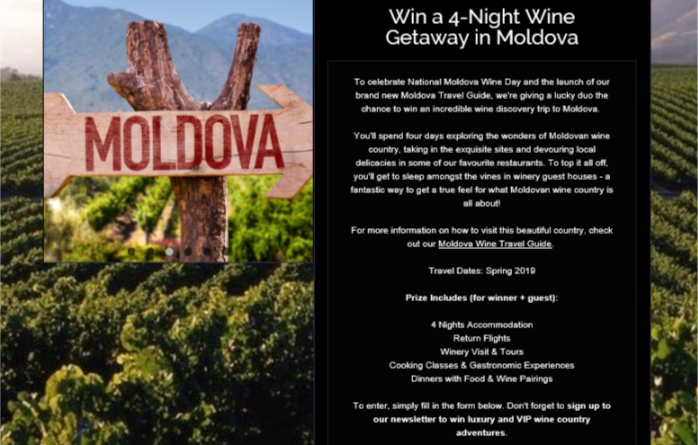 Win a 4 Night Wine Getaway in Moldova