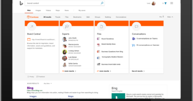 Microsoft Search—cohesive search that intelligently helps you find, discover, command, and navigate