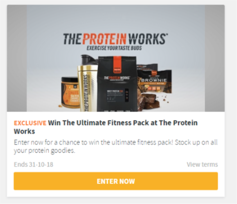 Win The Ultimate Fitness Pack at The Protein Works