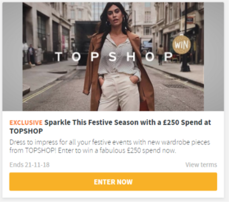 Win £250 to spend at TOPSHOP