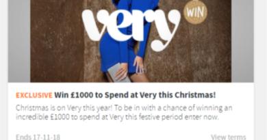 Win £1000 to Spend at Very