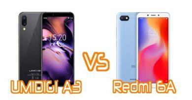 UMIDIGI A3 VS Redmi 6A, who is the entry-level beast?