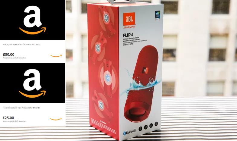 Win a JBL Speaker & Amazon Giftcards