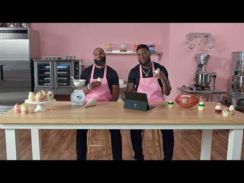 Surface Pro 6 | NFL Teammates & Cupcake Shop Owners - Brian Orakpo & Michael Griffin