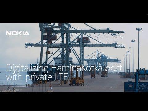 Digitalizing HaminaKotka port with private LTE