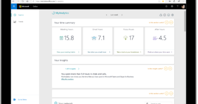 MyAnalytics, the fitness tracker for work, is now more broadly available